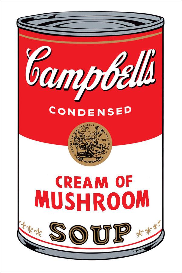 andy warhol campbell soup mushroom 1968 ebay. Black Bedroom Furniture Sets. Home Design Ideas